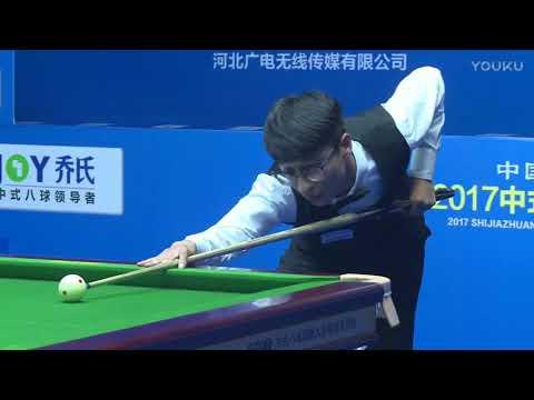 Wang Xiao VS Wang Jian - L16 - 2017 Shijiazhuang Chinese 8 Ball International Open College Qualifier