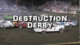 Tri County Fair Destruction Derby 2011 - Bishop, CA  KIBS 100.7FM