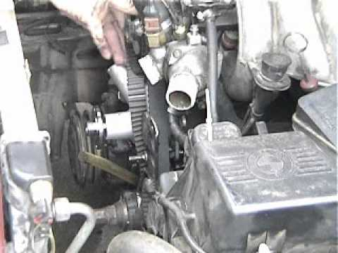 BMW 528e Waterpump and Timing Belt wmv