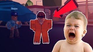 kleines Kind RAGING immer ARRESTED auf JAILBREAK in Roblox TEIL 2 * lustige Zusammenstellung *
