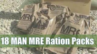 US Army 18 Man MRE Ration Packs
