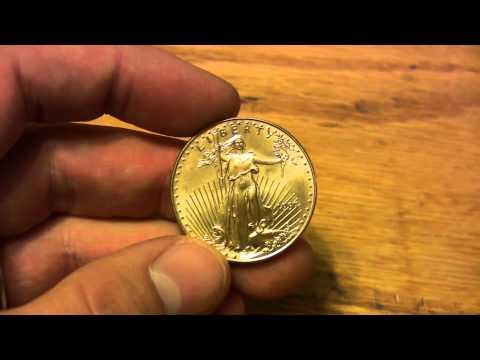 Gold Bullion - Detail Of 1 Ounce Gold Eagle Coin