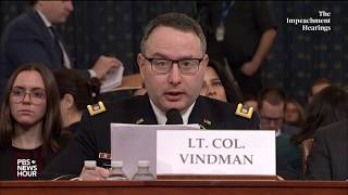 WATCH: Alexander Vindman's full opening statement | Trump impeachment hearings