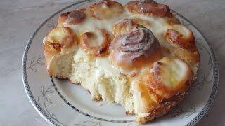 Нежный вкусный  дрожжевой пирог с творогом bread with cream cheese