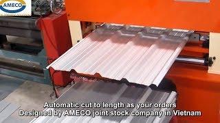 Máy cán tôn sóng vuông - AMECO Roofing roll forming machine