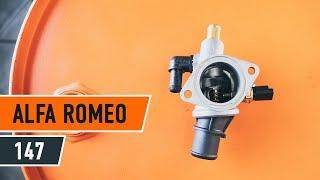 Как се сменят Накладки за барабанни спирачки на ALFA ROMEO 147 (937) - онлайн безплатно видео