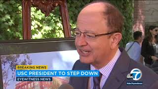 USC president stepping down amid gynecologist scandal I ABC7