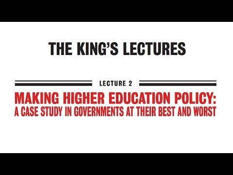 Making higher education policy: a case study in governments at their best and worst