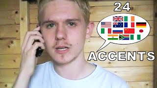 The English Language In 24 Accents(Check out my newest accent video (2015): https://www.youtube.com/watch?v=riwKuKSbFDs Also my 2012 animated sequel to this vid ..., 2010-09-18T20:20:19.000Z)