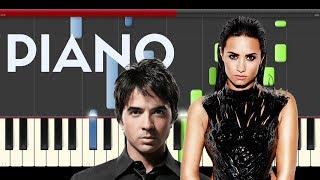 Luis Fonsi Demi Lovato Echame la Culpa Piano Midi tutorial Sheet app Cover Karaoke