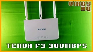 Tenda F3 300mbps wireless router unboxing & review