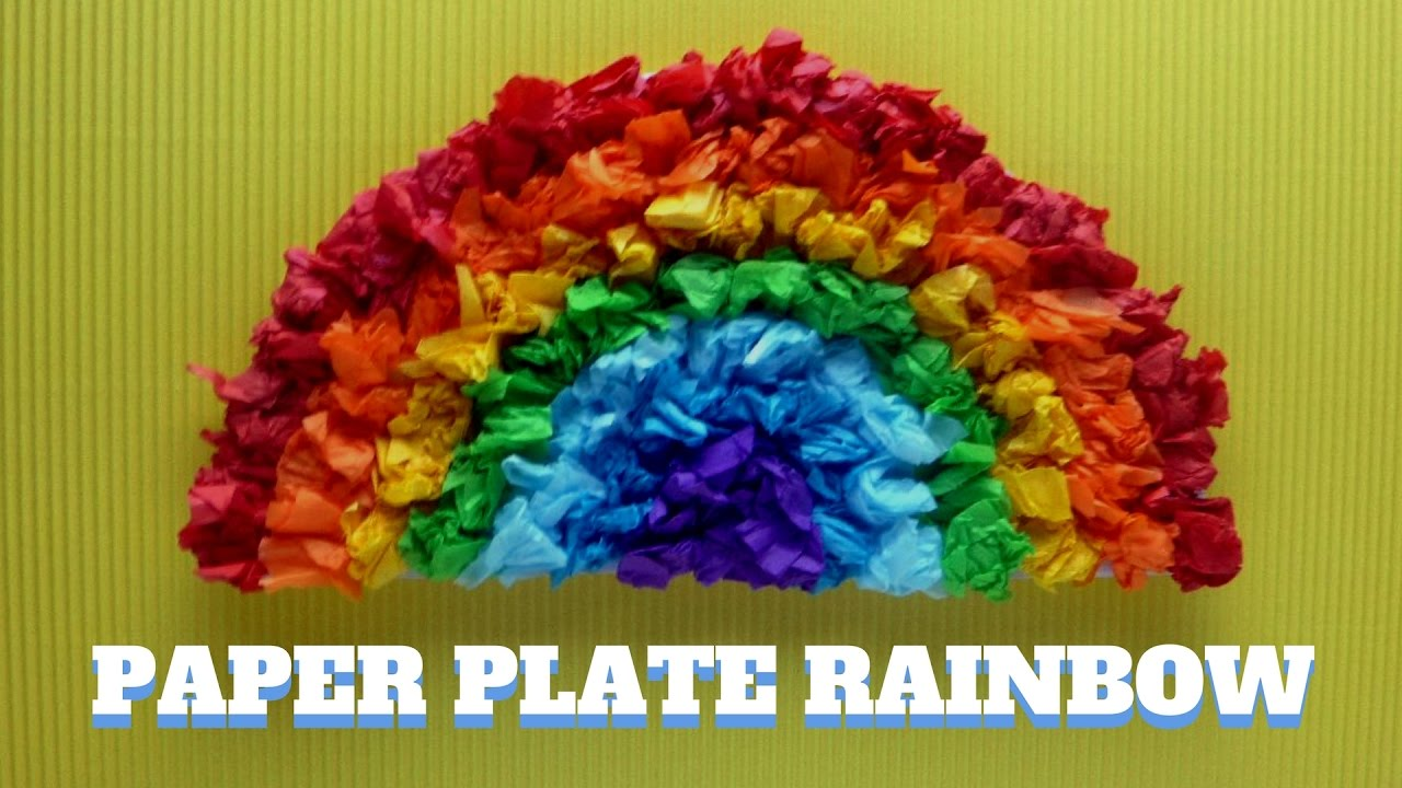 rainbow paper craft how to make a paper plate rainbow paper plate craft 2809