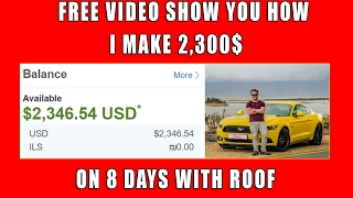 I WILL SHOW YOU HOW I MAKE 2,300$ ON 8 DAYS WITH PROOF