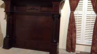 Double Burlington Mantel - Custom Built Fireplace Mantel