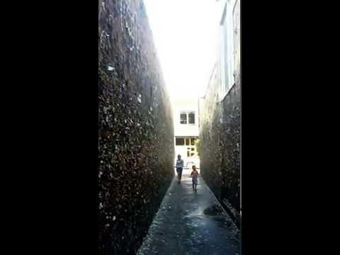 Bubblegum Alley tourist attraction in downtown San Luis Obispo, California Jul 2015 tuchinitomiguel