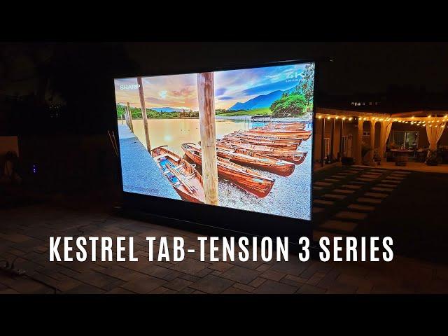 Joelster Reviews Elite Screens Kestrel Tab-Tension 3 Series | Electric Floor-Rising Projector Screen