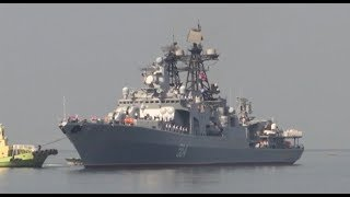 Russian naval vessels berth in Philippines
