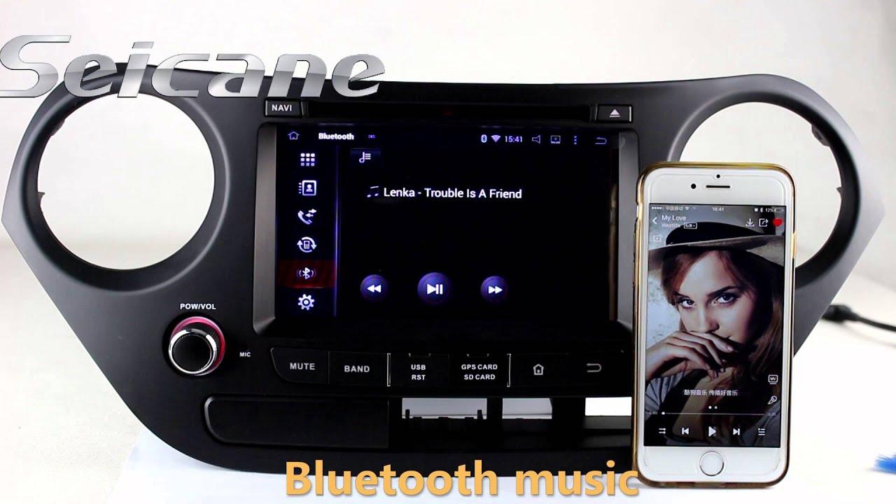 hd 8 android 4 4 2014 2015 hyundai i10 gps navigation dvd. Black Bedroom Furniture Sets. Home Design Ideas