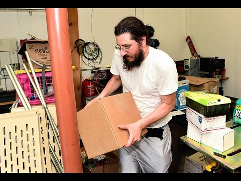 VIDEO: Evicted Michael Rotondo, 30, sweats out move from parents' house