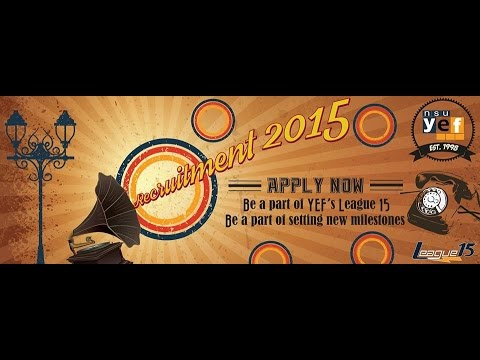 Official Recruitment of NSU YEF : Spring 2015