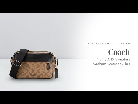 Banananina Product Review: Coach Men Signature Graham Crossbody Tan