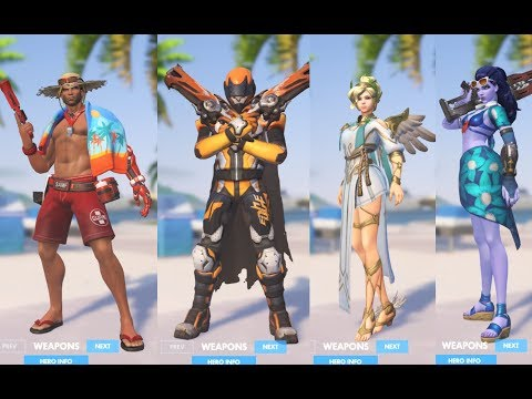 overwatch-summer-games-2017-all-skins,-highlight-intros,-emotes,-victory-poses-showcase