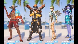 Overwatch Summer Games 2017 All Skins, Highlight Intros, Emotes, Victory Poses Showcase 2017 Video