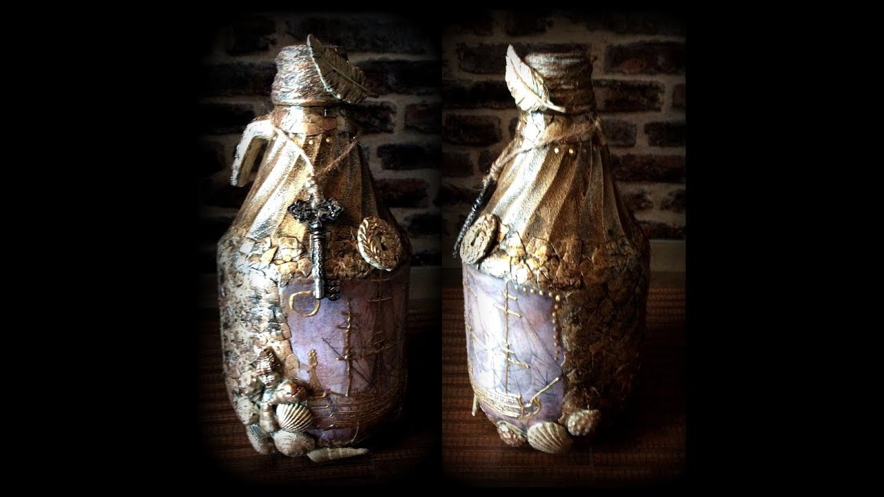 Yumurta Kabuğu Ile şişe Tasarimi Bottle Art With Egg Shell Diy