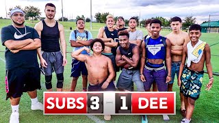 Surprising My Subscribers With a GIANT Football Game! (They Actually Beat Me)