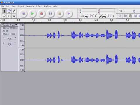 Recording and Saving Files Using Audacity