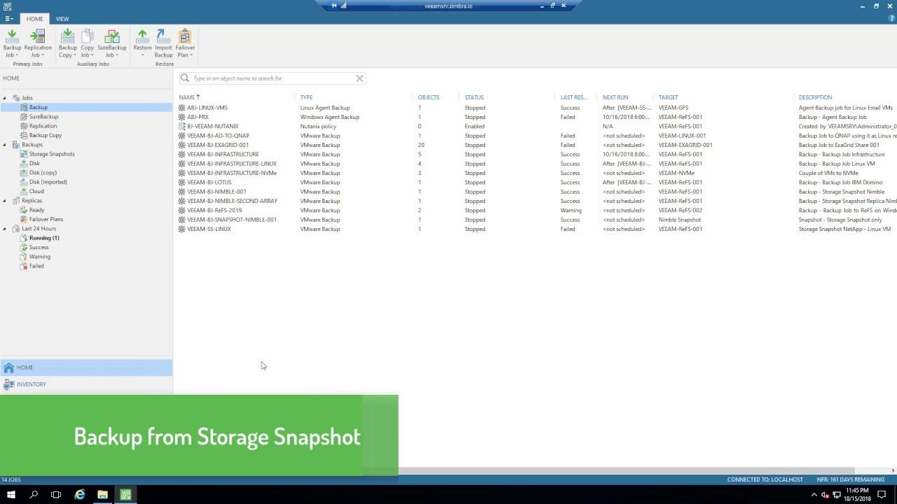 02  HPE NimbleStorage & Veeam - Backup from Storage Snapshot