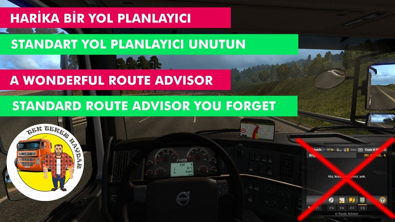 ETS2 1 30 xx - 1 31 xx - New Route Advisor / GPS Speed Limit Indicator /  Reworked GPS ✅