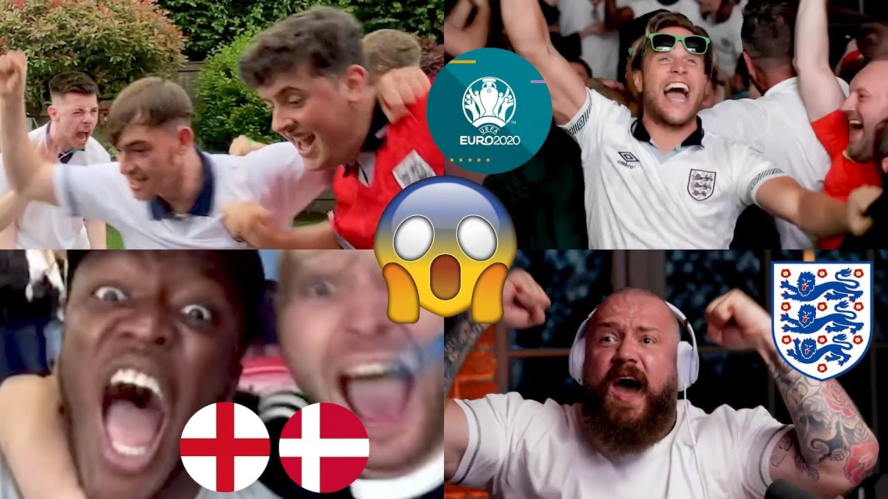 GOAL REACTIONS!😱 Fans go CRAZY as Kane sends England to the FINAL of Euro 2020!🤯🤩