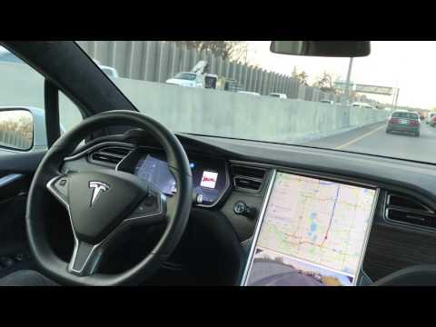 Tesla Model X Autopilot in Heavy Traffic
