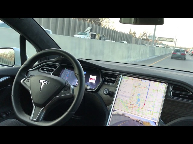 Tesla Model X Autopilot in Heavy Traffic