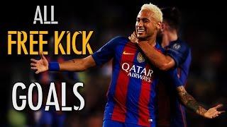 Neymar Jr - All 14 Free Kick Goals In Career | 2011 - 2017 | HD