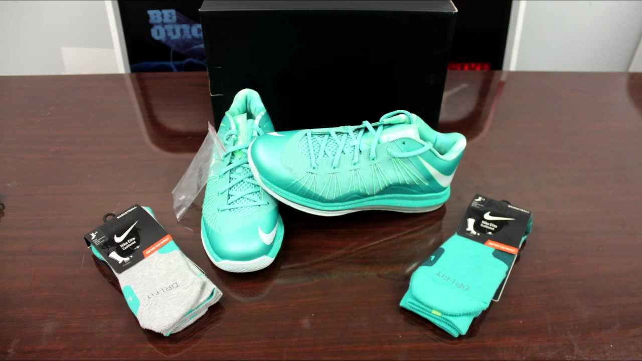 check out a6d08 09e75 Nike LeBron Air Max X Low Easter Review - YouTube
