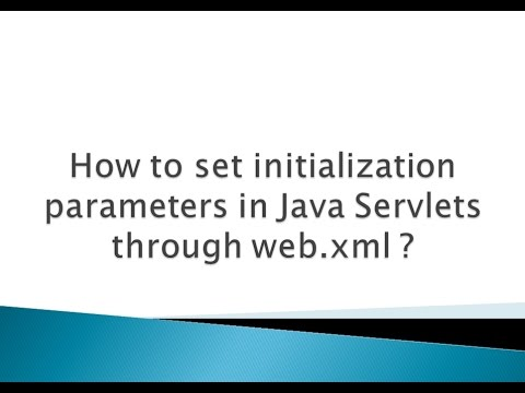 How to set initialization parameters in Java Servlets through web.xml ?
