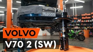 Kuinka vaihtaa etu joustintuet VOLVO V70 2 (SW) -merkkiseen autoon [AUTODOC -OHJEVIDEO]
