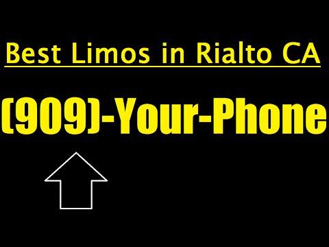 Limo Service in Rialto, CA - Best Rialto Limousine Service
