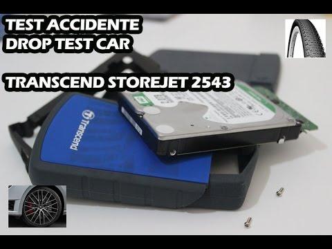 TRANSCEND STOREJET 25H3 / TEST DESTRUCCION CON COCHE / DROP TEST CAR