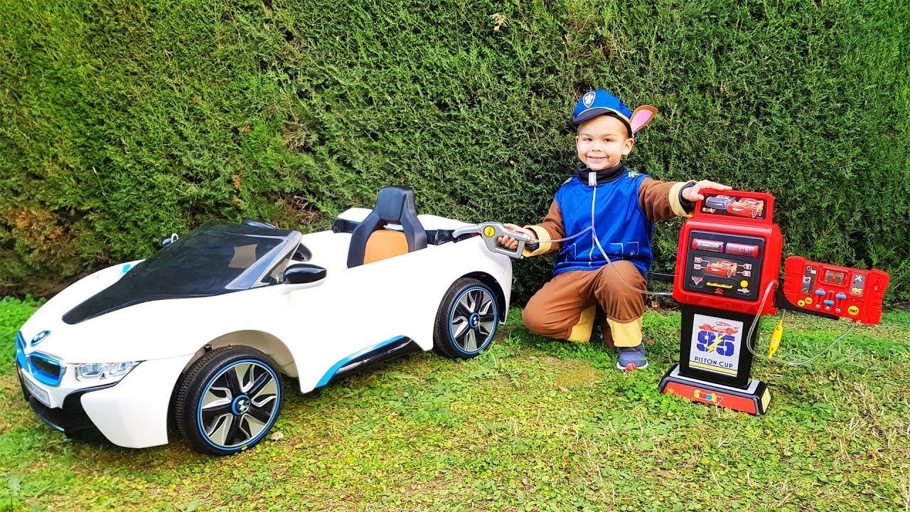 The fuel was over on power wheels BMW car