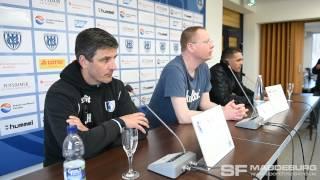 Pressekonferenz - SV Babelsberg 03 gegen 1. FC Magdeburg 1:2 (1:1) - www.sportfotos-md.de
