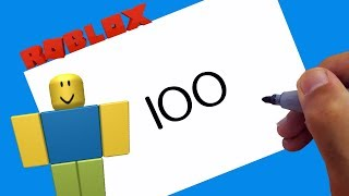 ROBLOX ZEICHNUNG ! Zeichnen Noob mit Zahlen 100 Schritt für Schritt