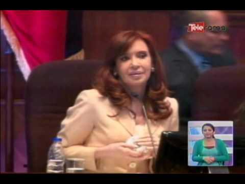Cristina Fernández fue condecorada por la asamblea nacional