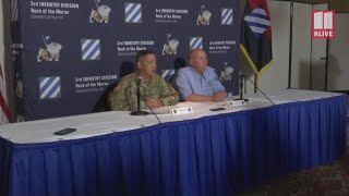 Military officials provide an update on Sunday's deadly accident at Fort Stewart