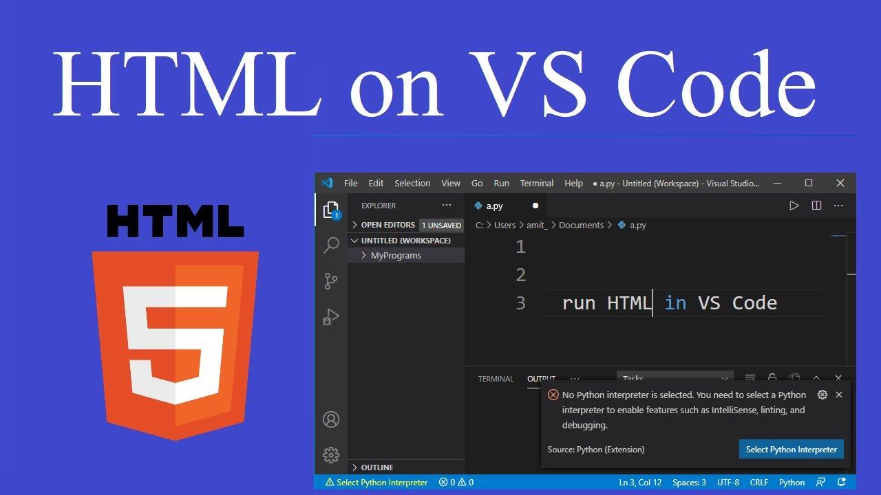 How to run HTML file on Visual Studio Code 9