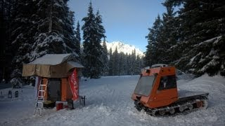Snowcat in the Oregon Deep Snow Cascades