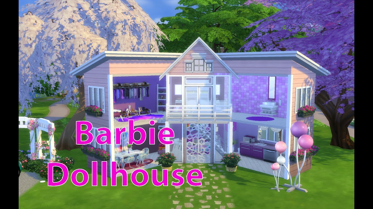 The Sims 4 Barbie Doll House Speed Build House Building Youtube