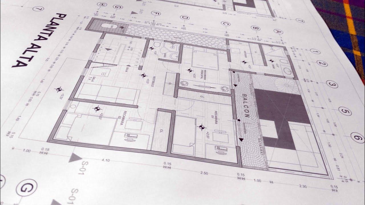 Dibujo arquitectonico de casa residencial dibujos for Pdf planos arquitectonicos